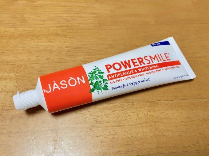 Jason Natural, パワースマイル、歯垢防止 & ホワイトニングペースト、強力ペパーミント